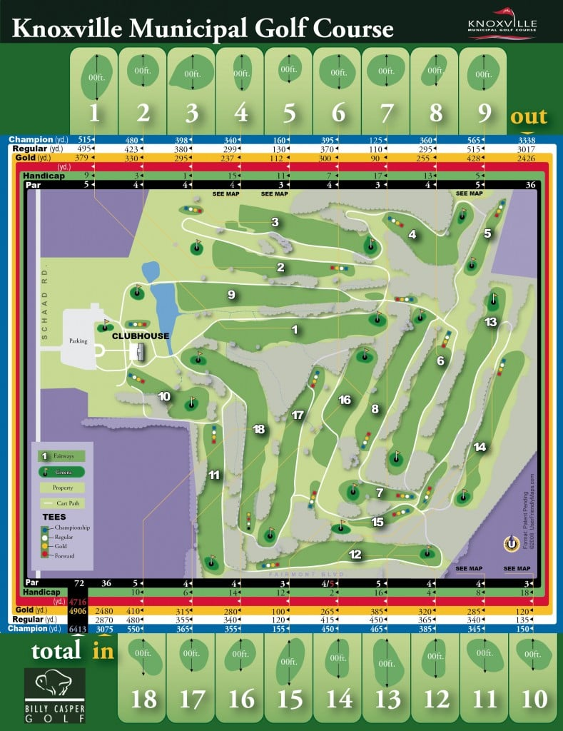 Knoxville Municipal Golf Course - Matrix providing the metric details and overview of a new golf course